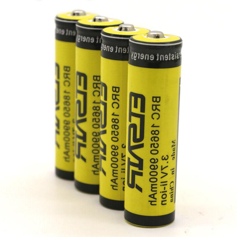 4pcs 3.7V 9900mAh Rechargeable Battery Batteries Bat