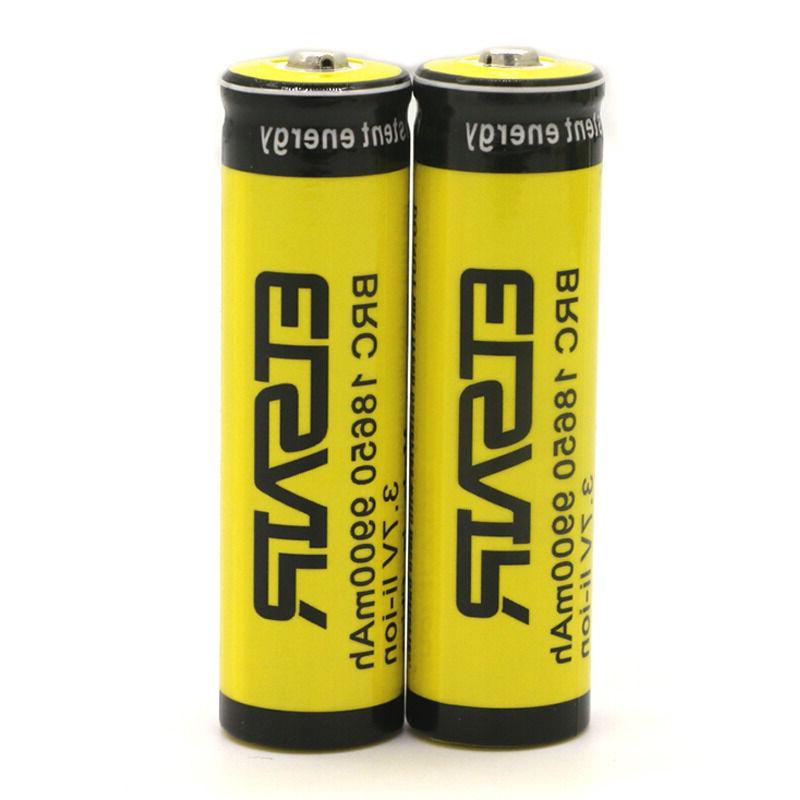 4pcs 3.7V 9900mAh 18650 Rechargeable Bat Flashlight