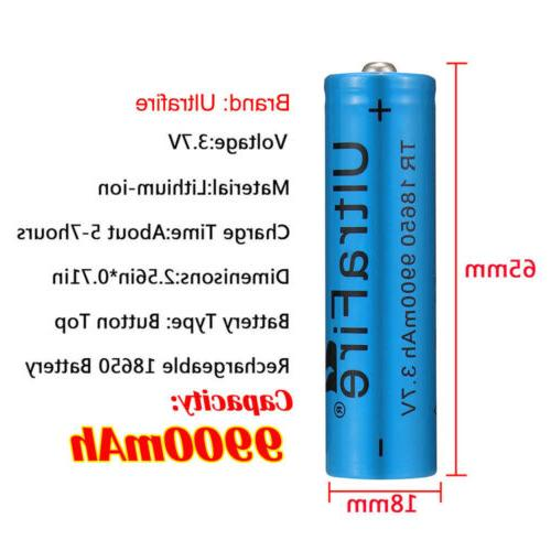 4X Lithium Rechargeable Battery 2X UltraFire