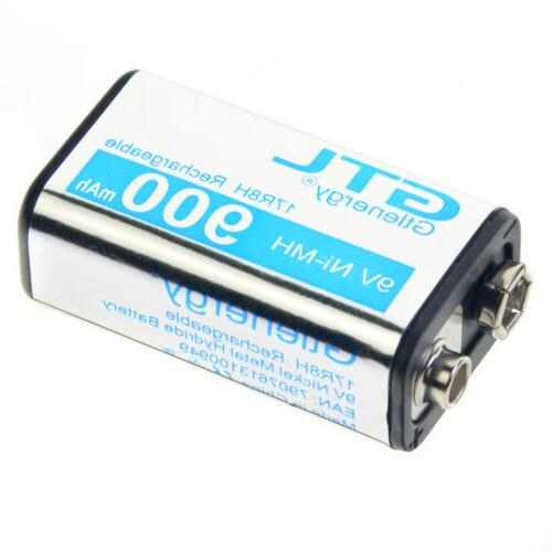4PCS Durable 9V 900mAh Rechargeable Battery Ship