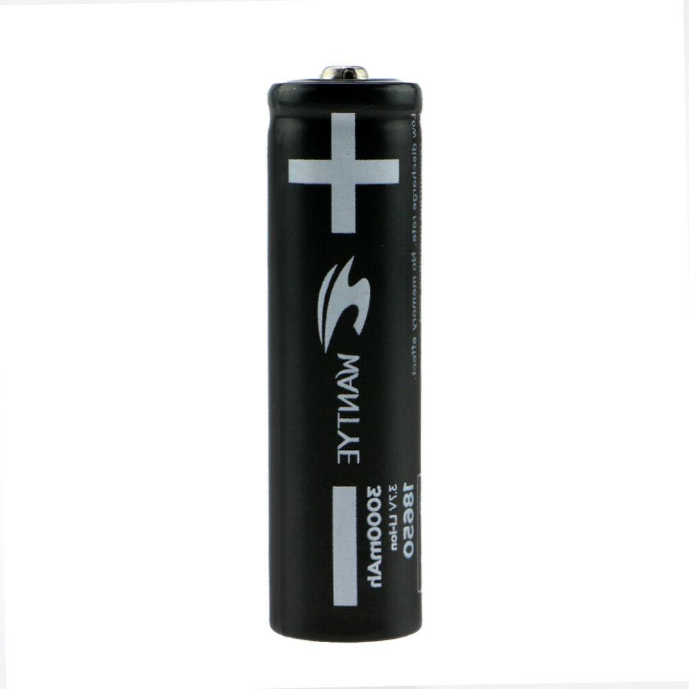 4Pcs 3000mAh 18650 Battery with Rechargeable