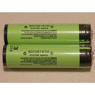 4Pcs Panasonic-NCR18650B Battery US