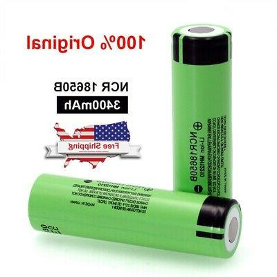 4pcs ncr18650b 3400mah high drain flat top
