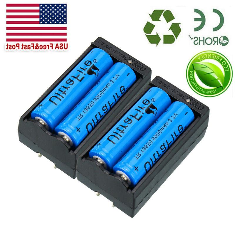 4X Lithium Rechargeable 2X Charger UltraFire