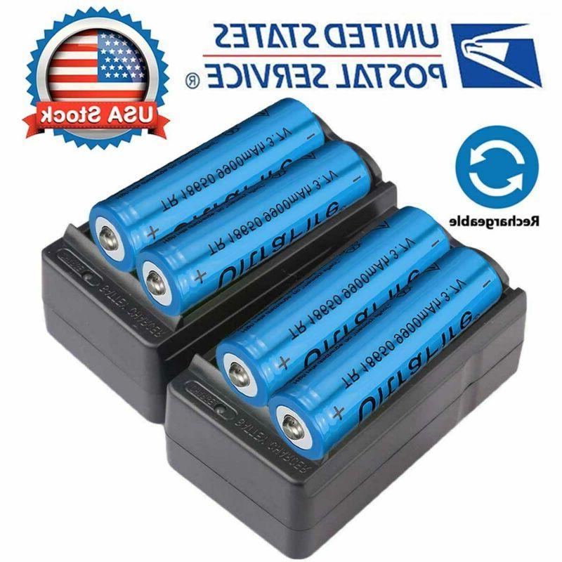 4x 18650 3 7v li ion lithium