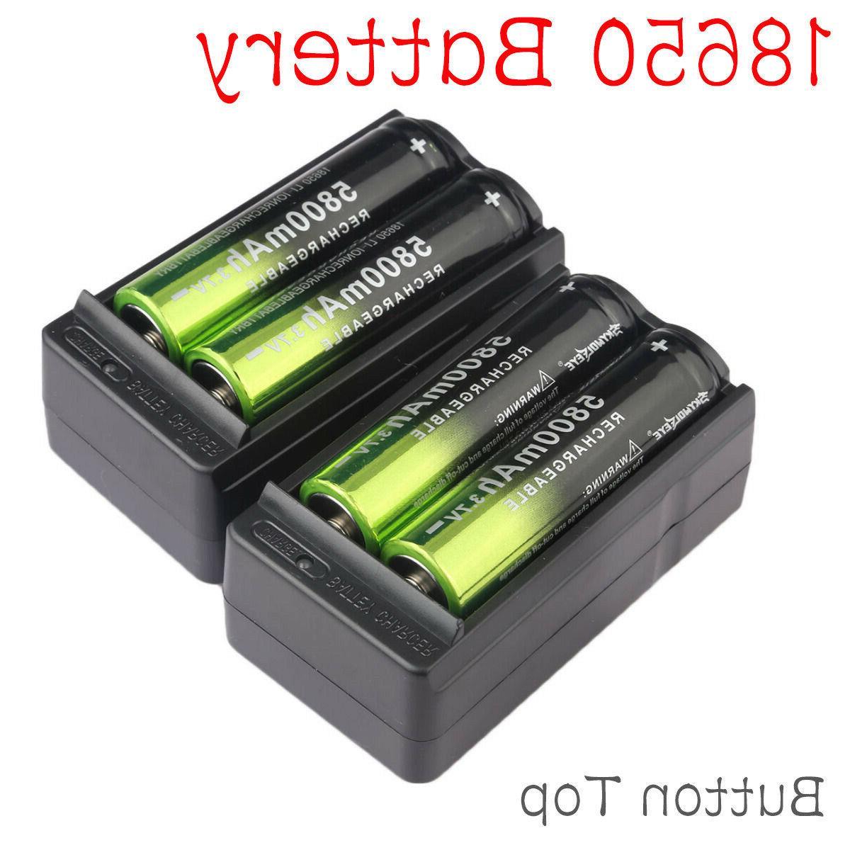 4x 18650 5800mah rechargeable battery li ion