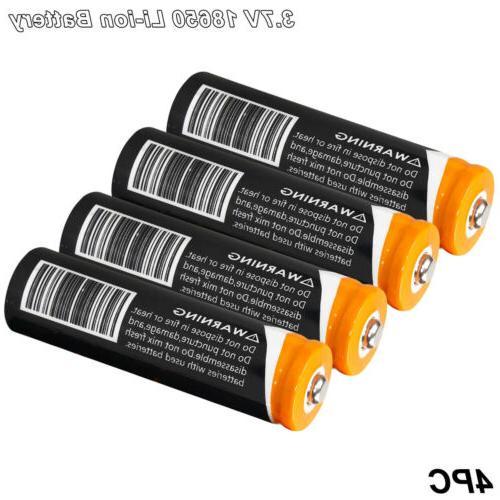 4x 18650 Li-ion Battery Torch