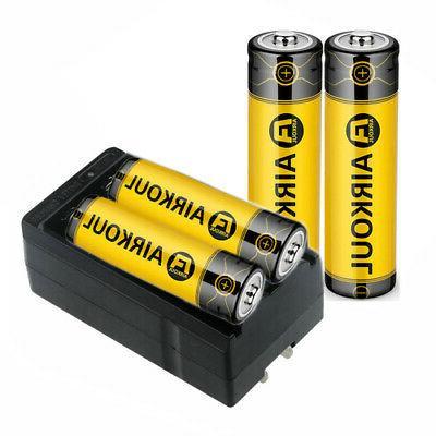4pc Li-ion 3.7V +Dual Charger Torch