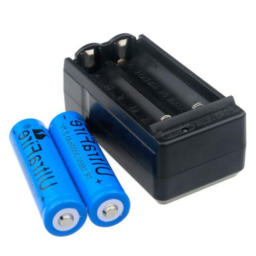 Lot 18650 Battery 3.7V Rechargeable For LED Torch