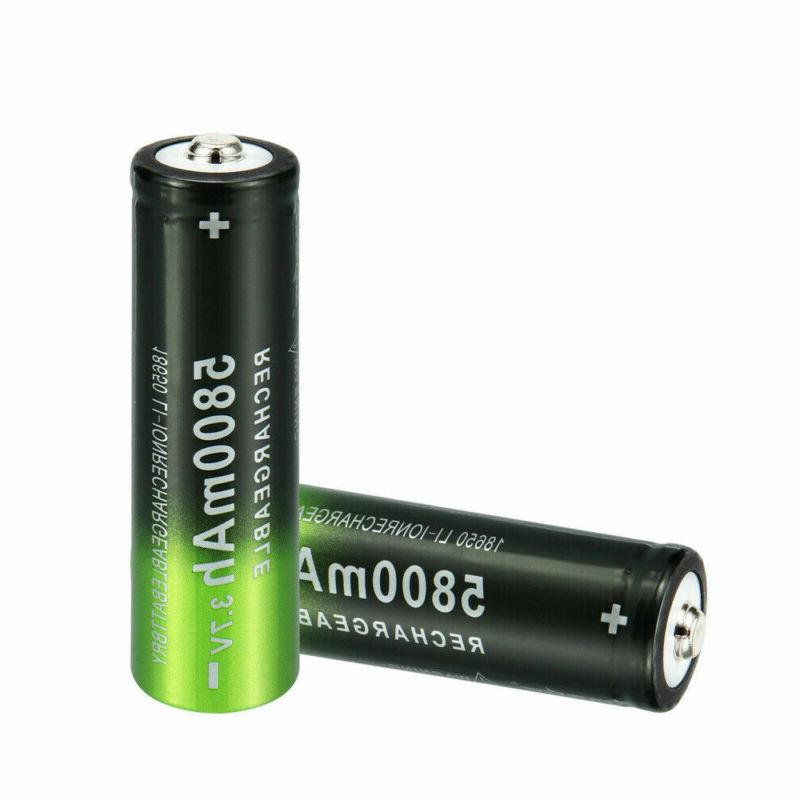 4x 18650 3.7V Rechargeable + 2x Smart