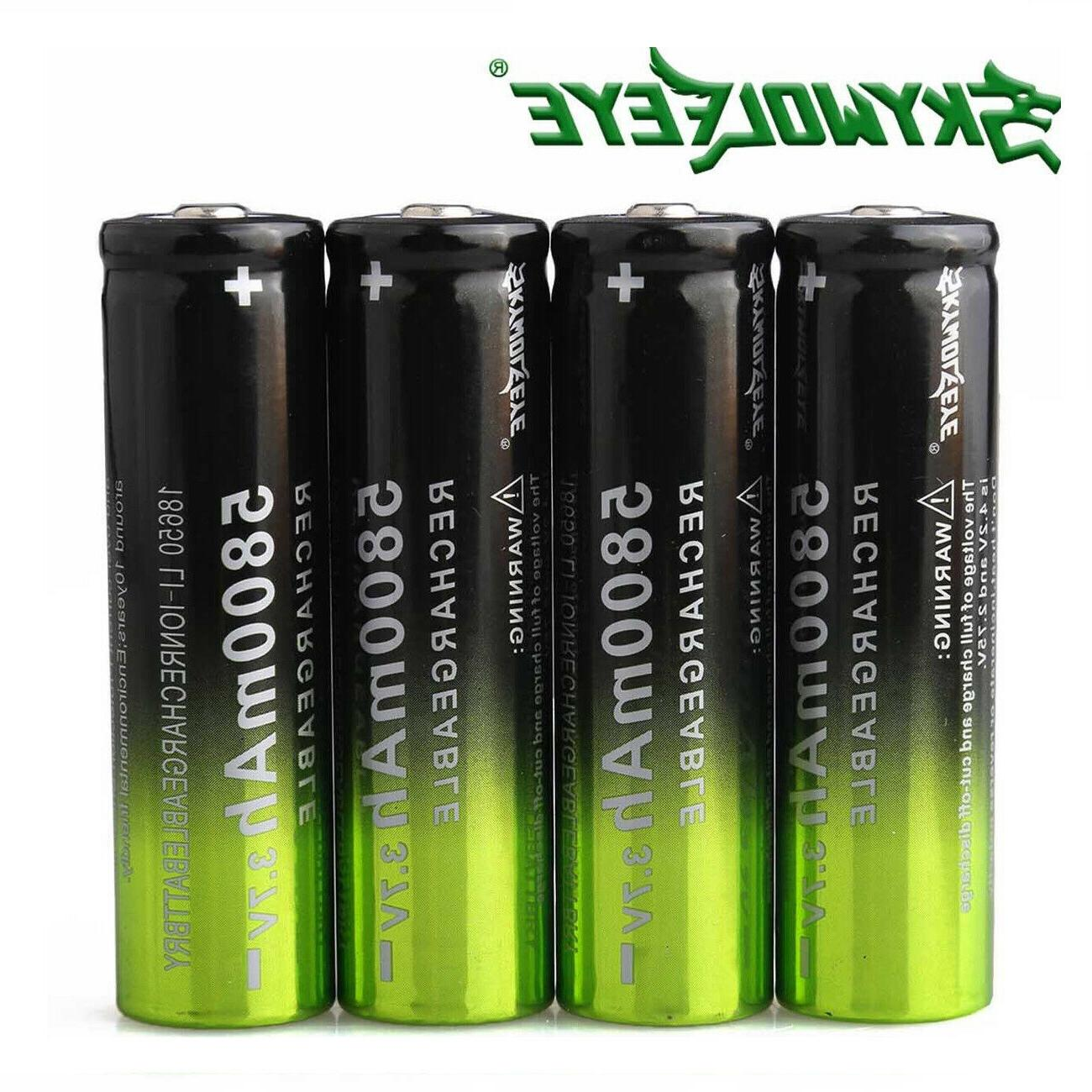 4X Battery 5800mAh 3.7V Rechargeable Charger LED