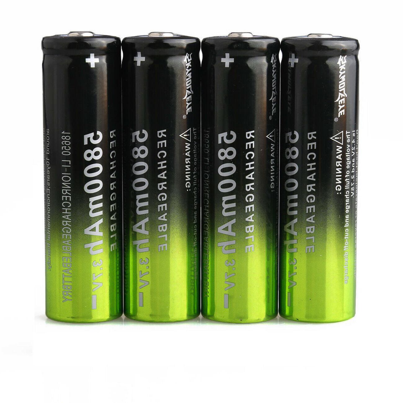 4X 18650 3.7V Battery