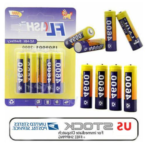 4x aa rechargeable batteries 1 2v 4600mah