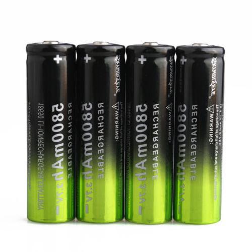 4x Skywolfeye 3.7 18650 Batteries +