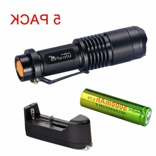 SK68 Flashlight 50000LM + Rechargeable Battery