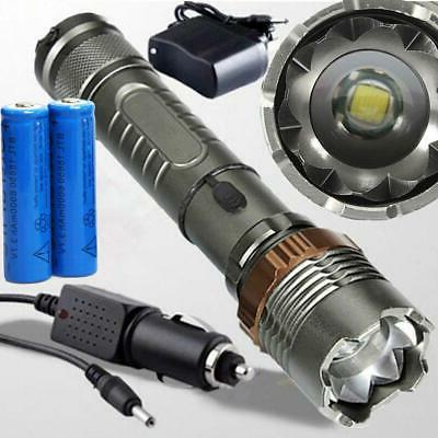 5000lumen led zoom flashlight torch rechargeable 18650