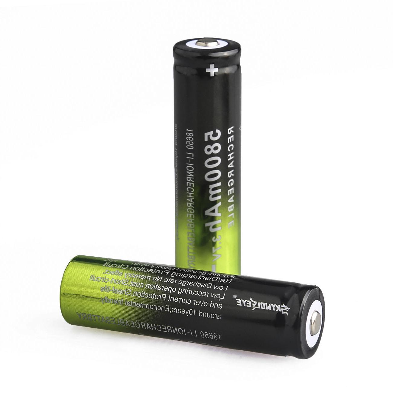 5800mAh 3.7v Rechargeable Batteries Cell Charger