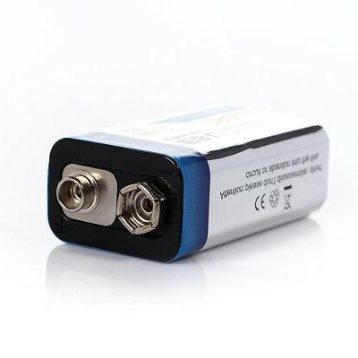 3x EBL 9V 9 Volt 6F22 Ni-MH Metal Rechargeable 17R8H