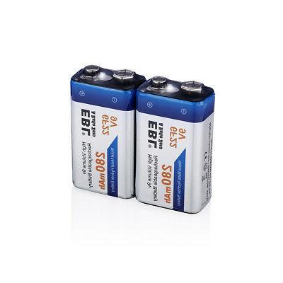 3x 9V Volt 6F22 Ni-MH Metal Hydride 17R8H