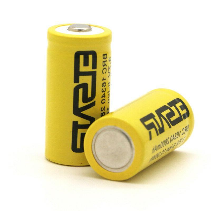 6pcs 16340 CR123A 3.7v rechargeable Smart