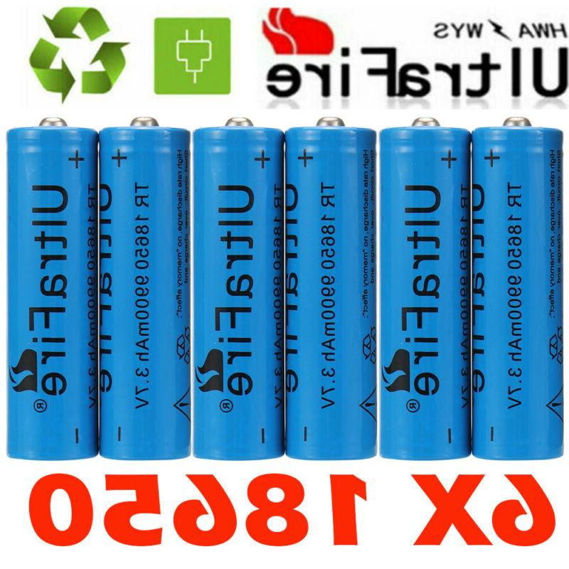 6x rechargeable batteries 9900mah 18650li ion battery