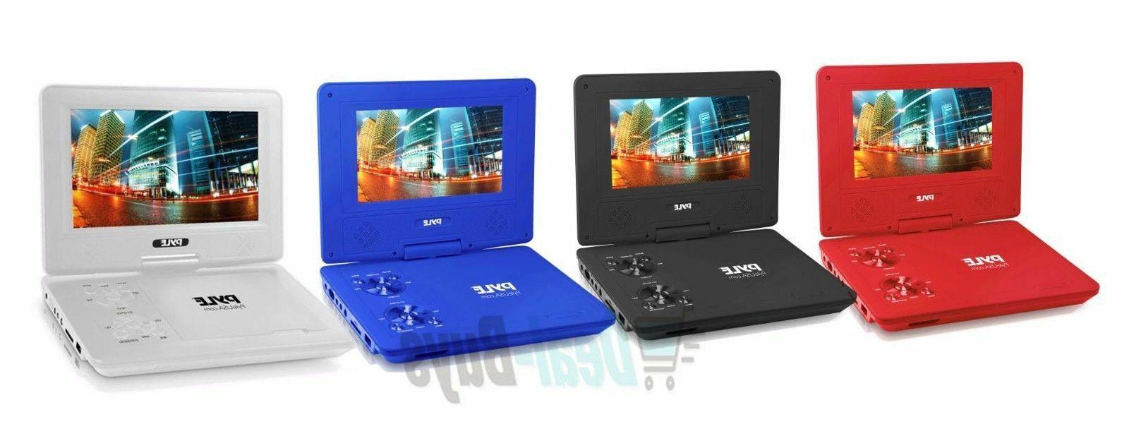 7 portable dvd player built in rechargeable