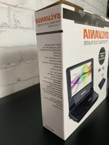 """Sylvania 7"""" Portable DVD Player Rechargable Battery"""