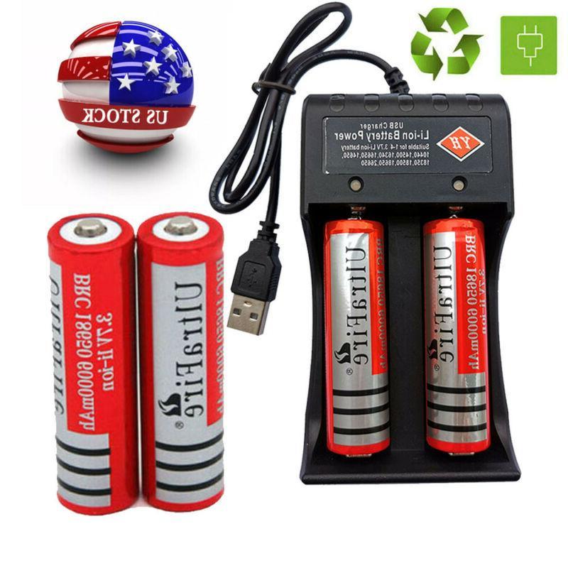 8* Battery 6000mAh Li-Ion + Charger