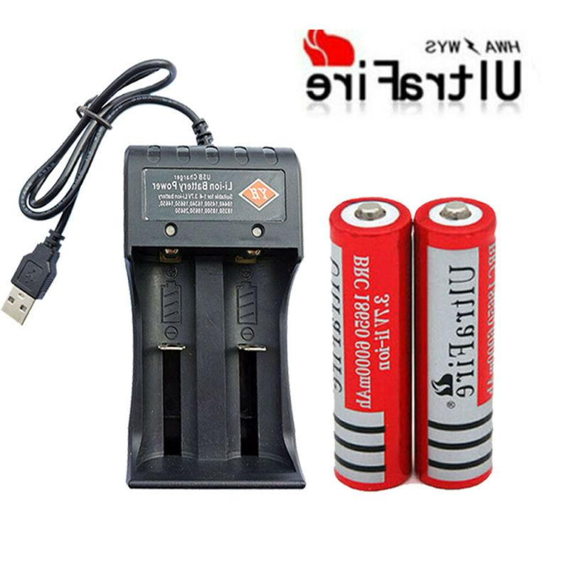 8* Battery 6000mAh Li-Ion + Slot USB Charger