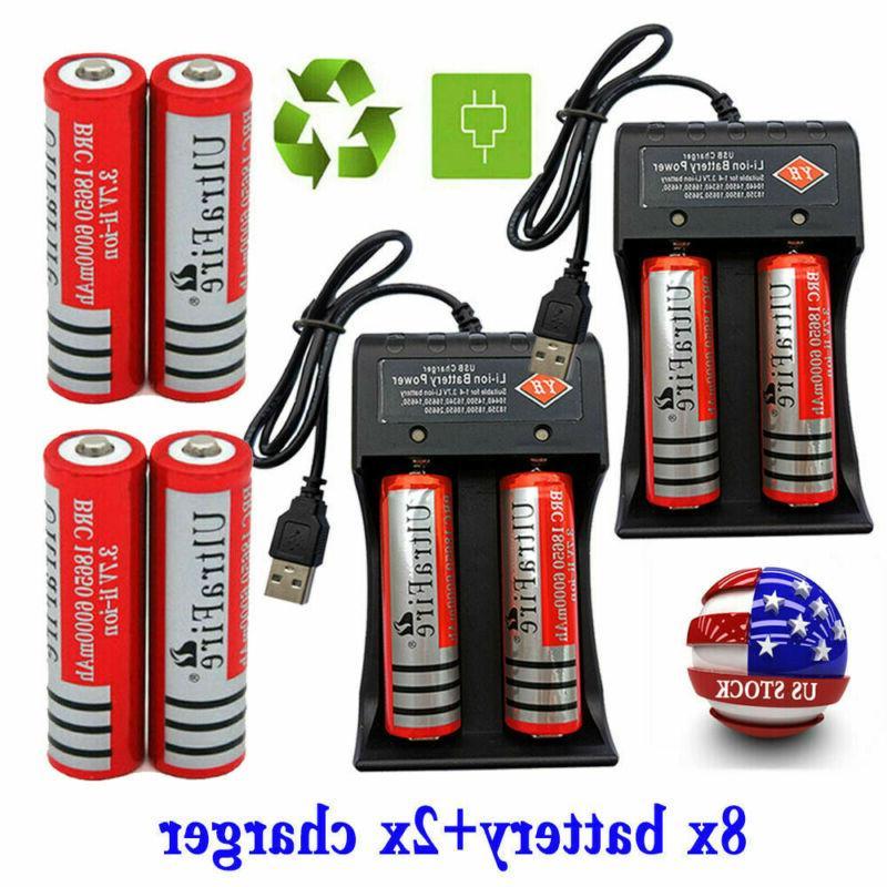 8 18650 battery 3 7v 6000mah li