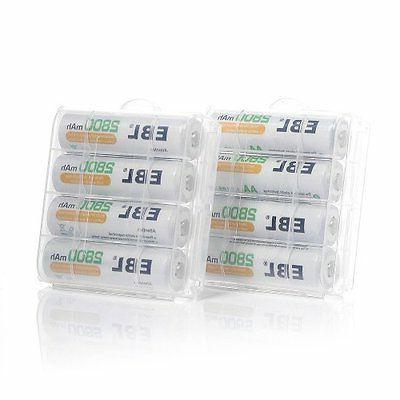 8 Supplies AA 2800mAh Capacity (ProCyco Technology