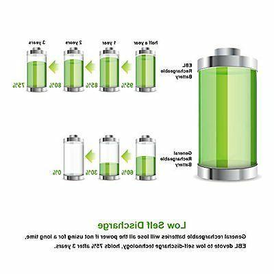 8 AA Batteries 2800mAh Capacity (ProCyco