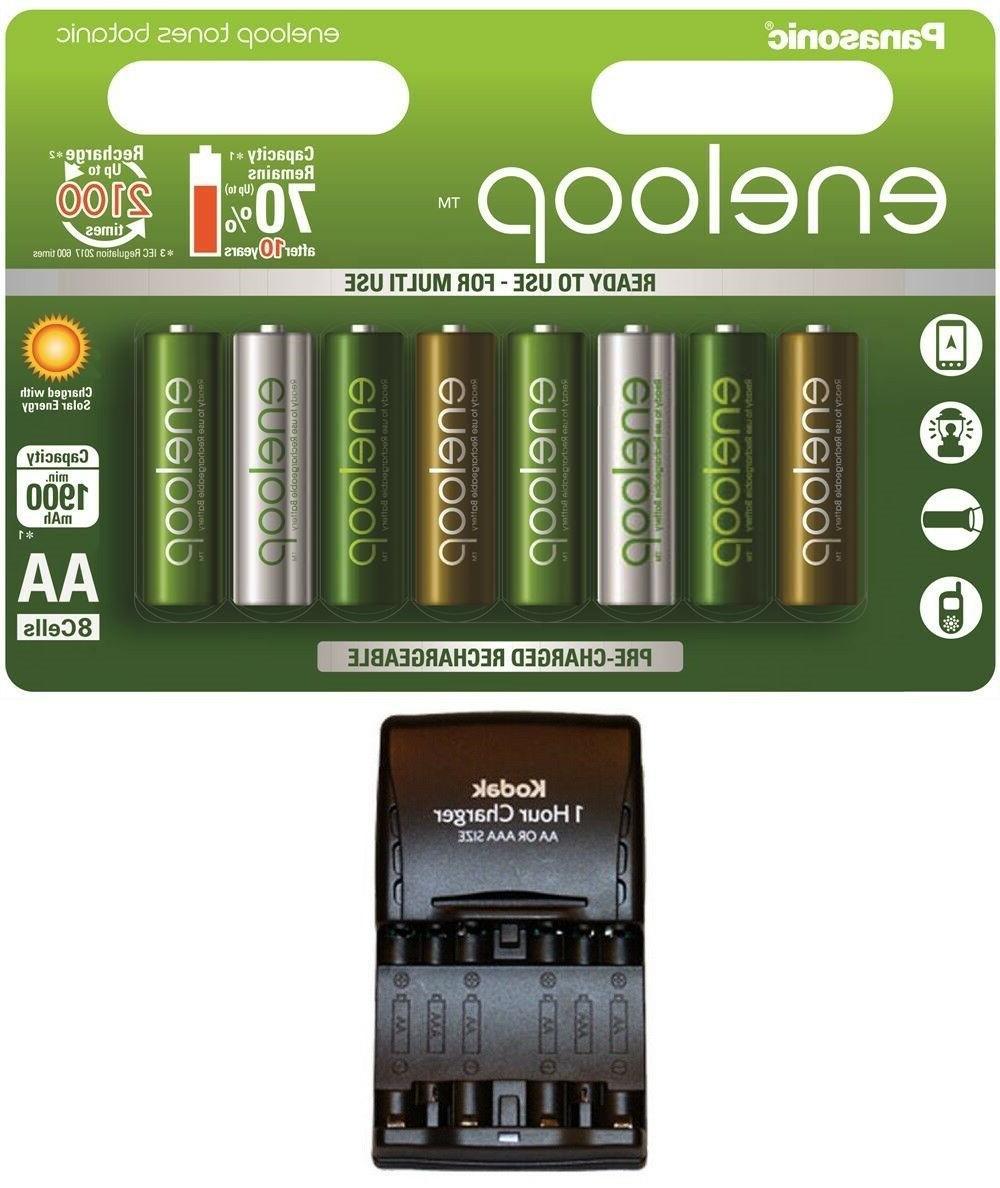 8 x eneloop botanic aa batteries 1900mah