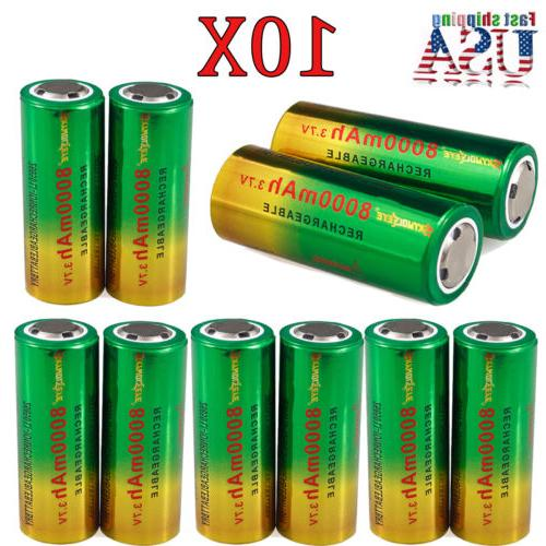 8000mAh 26650 Battery 3.7V Li-ion Rechargeable Battery For F