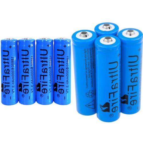 US 8PCS Ultrafire 18650 Battery Li-ion 3.7v Rechargeable Bat