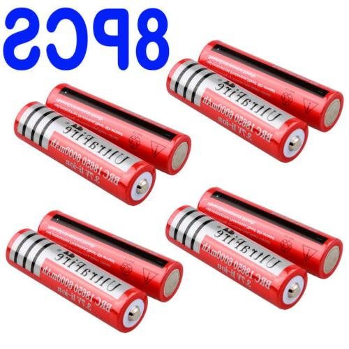 8pcs 3.7v Rechargeable For