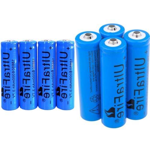 us 8pcs ultrafire 18650 battery li ion