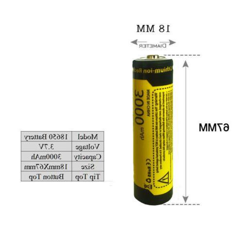 8PCS Rechargeable Battery 3.7V 1865O Li-ion Batteries for