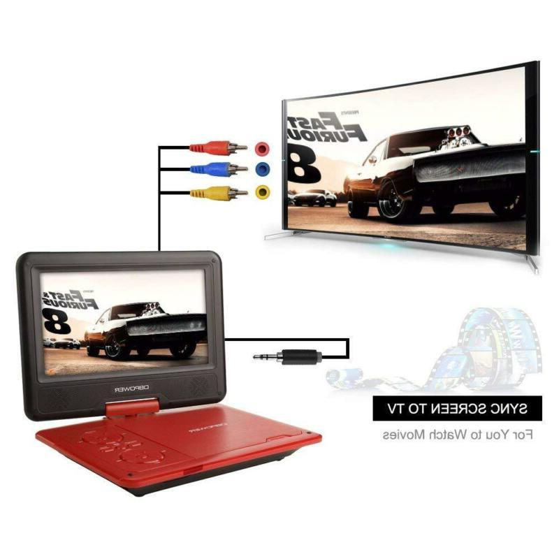 DBPOWER 9.5-Inch Portable Player with Rechargeable SD Card