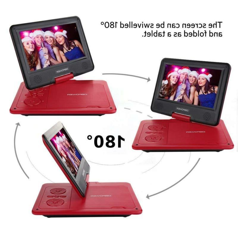 DBPOWER 9.5-Inch Portable Player with Rechargeable Battery, SD Card