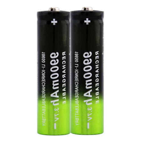 3.7V 18650 Li-ion Battery Flashlight Torch RC