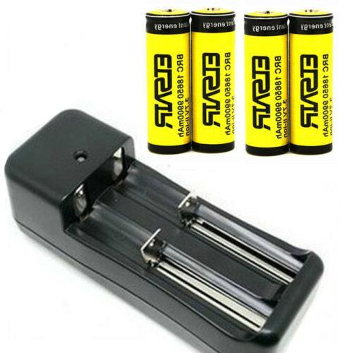 9900mAh 18650 Battery 3.7V Smart Charger