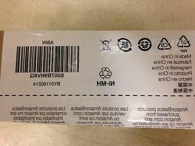 Amazonbasics Rechargeable Ni-MH Batteries, Sealed