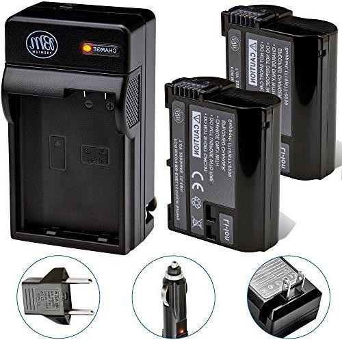 BM Premium 2-Pack of EN-EL15 Batteries and Battery Charger K