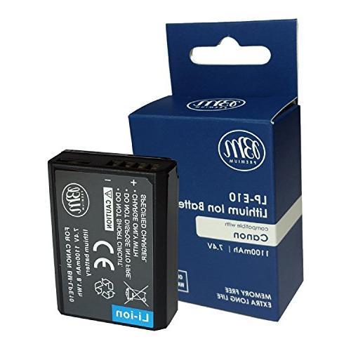 BM 2-Pack of LP-E10 Batteries Canon EOS Rebel T6, Kiss Kiss EOS EOS 1200D, EOS 1300D, EOS 2000D Digital