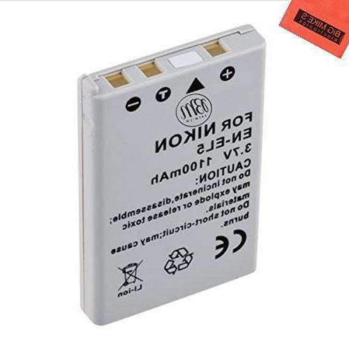 BM Premium EN-EL5 Battery for Nikon Coolpix P80, P90, P100,