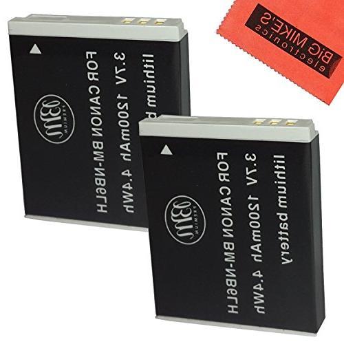 BM Premium Pack Of 2 NB6L, NB-6L, NB-6LH Batteries For Canon