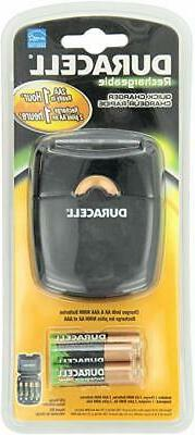 Duracell - Quick Charger 4 Pre-Charged Rechargeable Nimh Bat