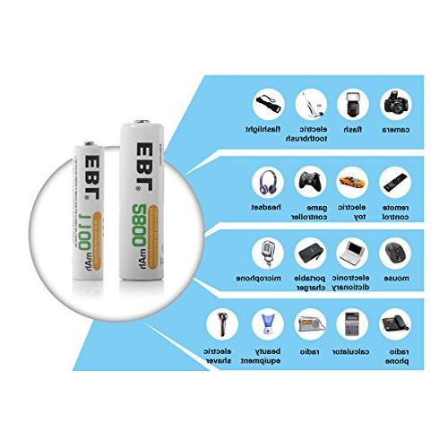 Batteries High AA Rechargeable Batteries, Battery Case Included