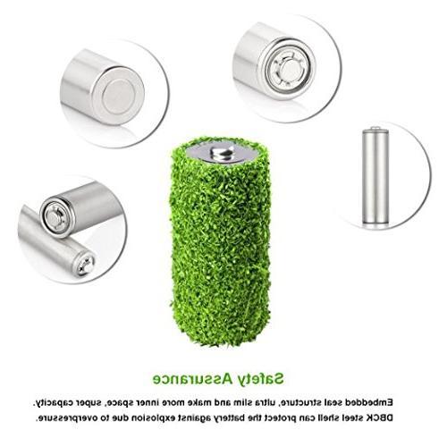 EBL Pack AA 2800mAh Batteries Battery Case